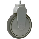 TANGO fixed castors, bolt hole, with highly elastic rubber wheels +ball bearing