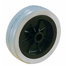 Equipment solid rubber wheels with plain bearing - Ø 60 - 125 mm