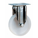 INOX Fixed castors with polyamide wheels and plain bearing