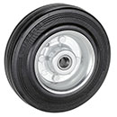 Solid rubber wheel with sheet steel rim and ball bearing - Ø 80 - 280 mm