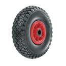 Puncture proof wheels with synthetic rim and roller bearing