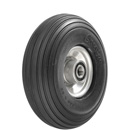 Puncture proof wheels with sheet steel rim and ball bearing