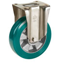 Fixed castors with SUPERSOFT-polyurethane wheels and ball bearing