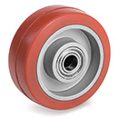 HEAT-Resistant non-marking silicone rubber wheels with ball bearing    250°C
