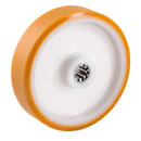 Cast Polyurethane wheels with roller bearing  -  Ø 80 - 200 mm