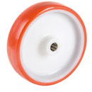 Polyurethane wheels with stainless steel roller bearing  -  Ø 80 - 200 mm