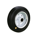 Anti-Static - Solid rubber wheels with sheet steel rim with roller bearing