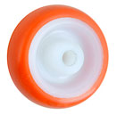 Polyurethane wheels with plain bearing