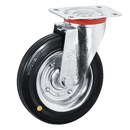 Swivel castors, Anti-Static solid rubber wheels, sheet steel rim+roller bearing