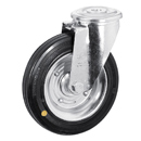 Swivel castors, bolt hole, Anti-Static solid rubber wheels, sheet steel rim + RB