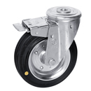 Swivel castors, bolt hole, total brake, Anti-Static rubber wheels+roller bearing