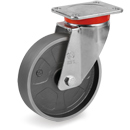 STRONG Swivel castors with cast iron solid wheels with ball bearing