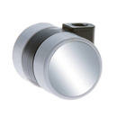 Furniture castors with chrome look, SOFT tread - Fixing order separately!
