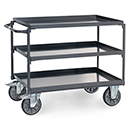 ESD - Table top carts with 3 steel plate trays