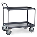 ESD - Table top carts with 2 steel plate trays