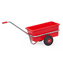 Hand cart with removable plastic tray, galvanized finish