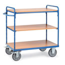 Shelf trucks with 3 shelves - available in 4 sizes