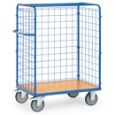 Parcel carts ends and sides made of wire lattice