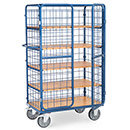 Parcel carts with double wing doors and roof, hight 1800 mm