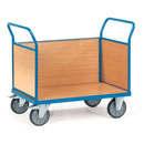Platform truck with 3 timber sides - available in 4 sizes