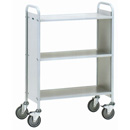 Office Book trolley with 3 shelves - with 4 non-marking swivel castors