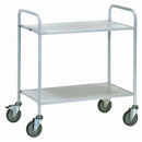 Office Table truck with 2 shelves - with 4 non-marking swivel castors