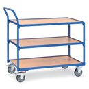 Light Table truck with 3 shelves - Load capacity 300 kg  - available in 2 sizes