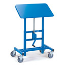 Mobile tilting stand, adjustable in height 655x1025mm, inclinalbe