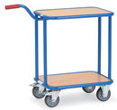Dolly with Gooseneck Handle - Load capacity 250 kg, upper shelf 100 kg.