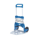 Compact Folding Sack Truck with pneumatic wheels.  250 kg Load capacity