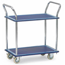 All-steel trolley with 2 shelves