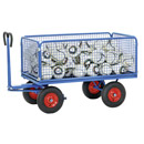 Turnable Trailer with sides of wire lattice, 600 mm high