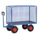 Turnable Trailer with sides of wire lattice, 1000 mm high