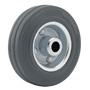 Grey solid rubber wheel
