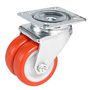 Double Swivel castor with Ø50mm polyurethane wheel