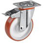 Easy-Roll swivel castor with total brake