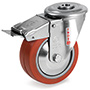 INOX Heat resistant Swivel castor, bolt hole