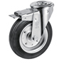 Swivel castor bolt hole with total brake with