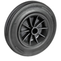 Black solid rubber wheel