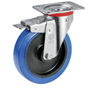 Swivel castor with total brake with