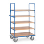 Shelf truck with 5 shelves, extra hight 1800mm