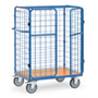 Parcel cart with double wing doors