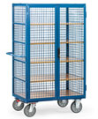 Cage cart with double wing doors, cremone lock