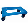 Dolly, blue ABS plastic frame 600x400 mm