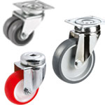 Equipment castors (for light loads)