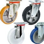 Equipment castors (for medium loads)